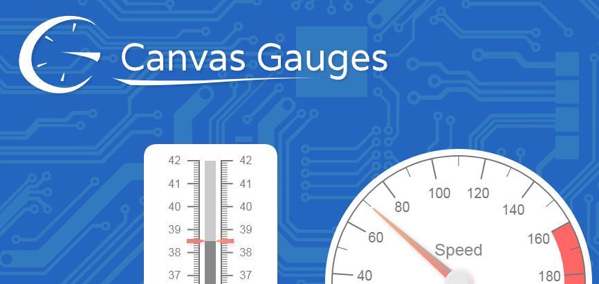 Canvas Gauges_绘制各种计量器、计量仪图表的Js工具库